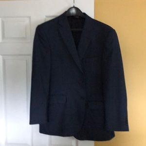 Blue checkered sport coat
